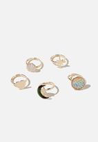 Cotton On - Ring set - magical beach gold