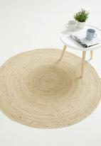Sixth Floor - Bleached round jute rug - neutral