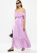 Me&B - Lilac frill maxi dress - lilac