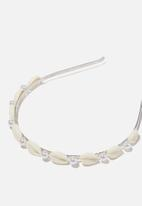 Cotton On - Headband- luxe - shells and pearls
