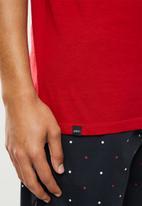 Superbalist - 2 pack premium cotton slub vests - black & red