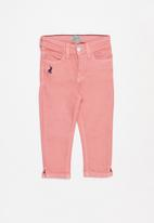 POLO - Girls keira cropped skinny jean - pink
