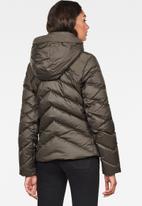 G-Star RAW - Whistler slim down hooded jacket - asfalt