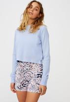 Cotton On - Cross back waffle long sleeve top - cornflower lilac