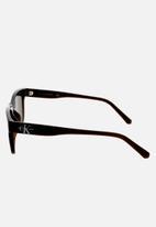 CALVIN KLEIN JEANS - Calvin klein jeans rectangle sunglasses - crystal brown