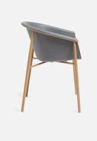 Sixth Floor - Akina dining chair - charcoal