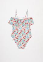 Free by Cotton On - Willow frill one piece - multi