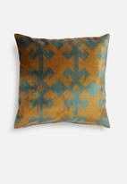 Hertex Fabrics - Binary cushion cover - copper