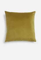 Hertex Fabrics - Scarab cushion cover - golden