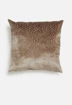 Hertex Fabrics - Scarab cushion cover - mink