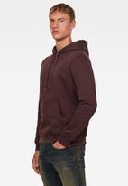 G-Star RAW - Premium core hoodie long sleeve - burgundy