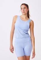 Cotton On - On the go twist back tank - cornflower lilac