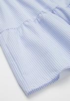Superbalist - Tiered summer dress - blue & white