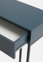 Sixth Floor - Deco desk - black & petrol
