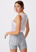 Cotton On - Run with it twist tank - sketched dense ditsy mint chip