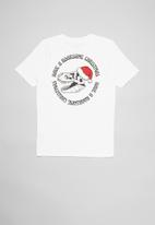 Free by Cotton On - Free boys skater short sleeve tee - white