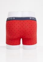 POLO - Reid all over print knit boxer - red