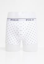 POLO - Reid all over print knit boxer - white