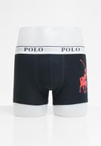 POLO - Ellis big pony knit boxer - navy & red