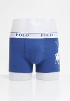 POLO - Ellis big pony knit boxer - royal blue