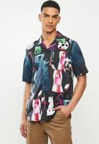 G-Star RAW - Bristum 1 pocket service straight short sleeve shirt - multi