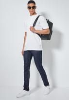 Superbalist - 2-pack Siya slim pique mandarin golfer - black & white