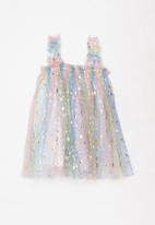 Baby Star - Star foiled darling dress - multi