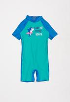 POP CANDY - Boys printed swimsuit - green & blue