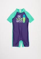 POP CANDY - Boys printed swimsuit - navy & green