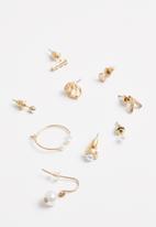Superbalist - Mixed hoop earring pack - gold