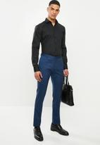 POLO - Christiaan slim fit long sleeve shirt - black