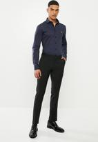 POLO - Christiaan slim fit long sleeve shirt - navy