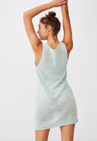 Cotton On - Summer lounge slip dress - aqua splash