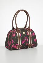 POLO - Iconic floral heritage bag - brown & pink