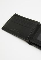 POLO - Tuscany leather sml multicard coin wallet - black