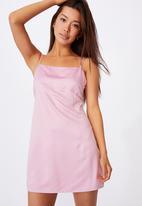 Factorie - Satin mini dress - babe pink