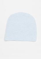 POP CANDY - 2 Pack stripe beanie - blue & white