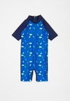 POP CANDY - Boys printed swimsuit - blue & navy