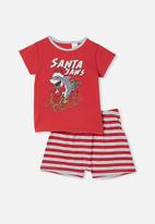 Cotton On - Hudson short sleeve pyjama set - red
