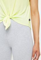 Cotton On - Tie up rib T-shirt - yellow