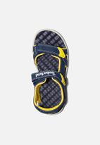Timberland - Perkins row 2 strap - navy & yellow
