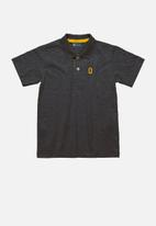 Quimby - Boys single jersey polo shirt - dark grey