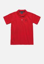 Quimby - Boys single jersey polo shirt - red