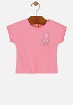 UP Baby - Girls bunny tee - pink