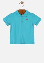 UP Baby - Single jersey polo shirt - blue