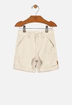 UP Baby - Boys linen bermuda shorts - beige