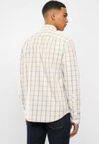 POLO - Nixon check signature long sleeve shirt - bone peach