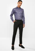 POLO - Oscar paisley signature long sleeve shirt - brick