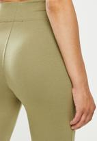 Missguided - Deep waist band legging - khaki