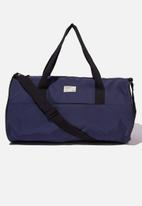 Typo - Premium barrel bag - navy and red